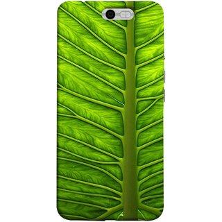 FUSON Designer Back Case Cover For InFocus M812 (Bright Green Leaf Of Tree Full Of Life Network Of Veins)