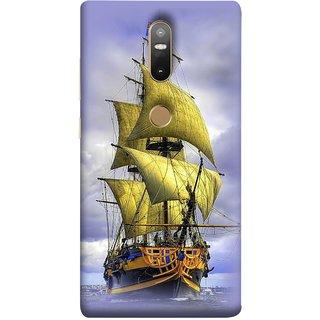 FUSON Designer Back Case Cover For Lenovo Phab 2 Plus :: Lenovo Phab2+ (Big Ship In Ocean Vintage Tall High)