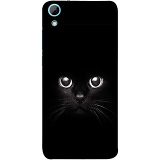 FUSON Designer Back Case Cover For HTC Desire 628 :: HTC Desire 628 Dual Sim  (Black Kitty Kitten Closeup Of A Long Haired Black Cats )