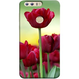 FUSON Designer Back Case Cover For Huawei Honor 8 (Dark Bold Red Roses Chocolate Hearts For Valentines Day)