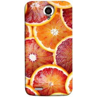 FUSON Designer Back Case Cover For Lenovo S820 (Citric Flesh Food Fruit Green Lemon Part Peel Orange)