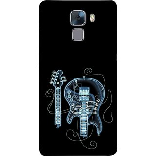 FUSON Designer Back Case Cover For Huawei Honor 7 :: Huawei Honor 7 (Enhanced Edition) :: Huawei Honor 7 Dual SIM (Musical Instrument Vintage Bass Music Lovers Play)