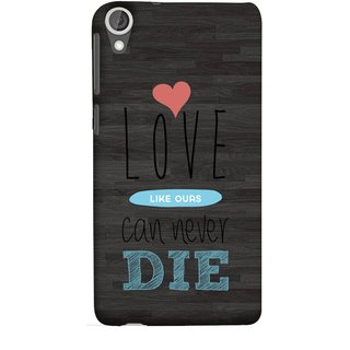 FUSON Designer Back Case Cover For HTC Desire 825 (Hearts Feeling Loved With Each Other Valentine Day)