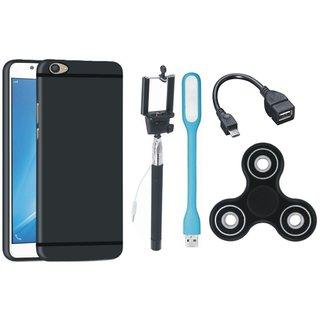 Vivo V5 Stylish Back Cover with Spinner, Selfie Stick, LED Light and OTG Cable