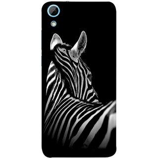 FUSON Designer Back Case Cover For HTC Desire 826 :: HTC Desire 826 Dual Sim (Close Up Portrait Of A Baby Zebra Long Ears Strips Forest)