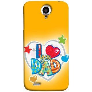 FUSON Designer Back Case Cover For Lenovo S820 (Daddy Father Stars Heart Colourful Lovely Family)