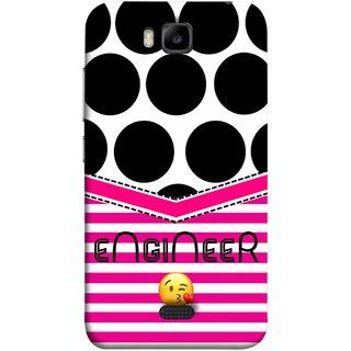 FUSON Designer Back Case Cover For Huawei Honor Bee :: Huawei Honor Bee Y5c (Kissing Smileyengineering Nice Semister Pink Design Paper)