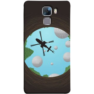 FUSON Designer Back Case Cover For Huawei Honor 7 :: Huawei Honor 7 (Enhanced Edition) :: Huawei Honor 7 Dual SIM (Military Tree Cave Trees Army White Bubbles Closeup)