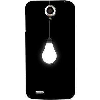 FUSON Designer Back Case Cover For Lenovo S820 (Hanging Light Bulb In Dark Room Ceiling Darkness )