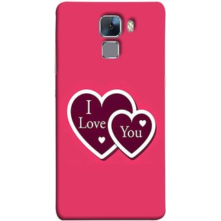 FUSON Designer Back Case Cover For Huawei Honor 7 :: Huawei Honor 7 (Enhanced Edition) :: Huawei Honor 7 Dual SIM (Pink Red Wallpapers Boyfriends Pure True Relations)