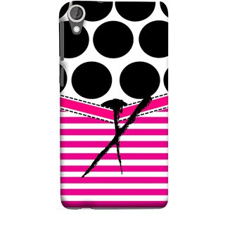 FUSON Designer Back Case Cover For HTC Desire 825 (Beautiful Cute Nice Couples Pink Design Paper Girly)
