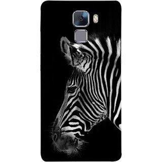 FUSON Designer Back Case Cover For Huawei Honor 7 :: Huawei Honor 7 (Enhanced Edition) :: Huawei Honor 7 Dual SIM (Close Up Portrait Of A Baby Zebra Long Ears Strips)