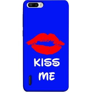 FUSON Designer Back Case Cover For Huawei Honor 6 Plus (Happy Joyful Enjoying Lovely Kissing Full Of Love Couples)