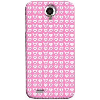 FUSON Designer Back Case Cover For Lenovo S820 (Valentine Pink Metallic Cool Peace Sign Symbol Pillow)