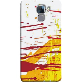 FUSON Designer Back Case Cover For Huawei Honor 7 :: Huawei Honor 7 (Enhanced Edition) :: Huawei Honor 7 Dual SIM (Artwork Acid Bright Wallpaper Yellow Shades)