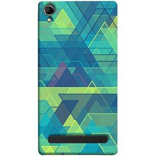 FUSON Designer Back Case Cover For Intex Aqua Power Plus :: Intex Aqua Power + (Hexagonal Shape Abstract Pattern Geometric Shapes )