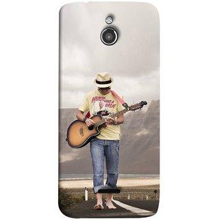 FUSON Designer Back Case Cover For InFocus M2 (Man Walking Road Mountains Sea Shore )
