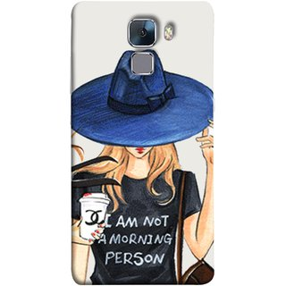 FUSON Designer Back Case Cover For Huawei Honor 7 :: Huawei Honor 7 (Enhanced Edition) :: Huawei Honor 7 Dual SIM (Retro Fashion.Summer Hat With Large Brim Coffee Cup)
