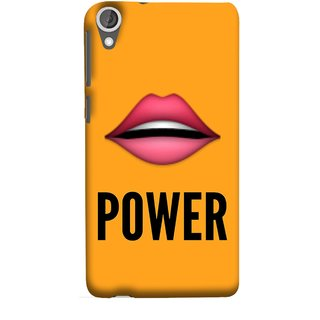 FUSON Designer Back Case Cover For HTC Desire 825 (Power Of Kiss Words Red Lips Pinky Flying Kisses Girl Lovers )
