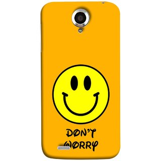 FUSON Designer Back Case Cover For Lenovo S820 (Big Smiling Baby Smiley Be Happy Never Worry)