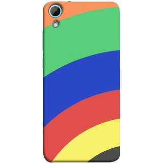 FUSON Designer Back Case Cover For HTC Desire 826 :: HTC Desire 826 Dual Sim ( Large Medium Circles Orange Yellow Red Blue Grey)
