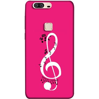 FUSON Designer Back Case Cover For Huawei Honor V8 (Colorful Music Notes Symbols Small Black Notes)