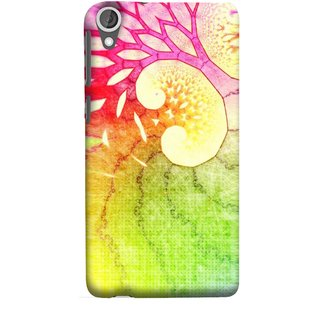 FUSON Designer Back Case Cover For HTC Desire 825 (Colourful Art Design River Shape Random Perfect)