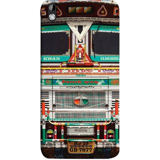 FUSON Designer Back Case Cover For HTC Desire 816 :: HTC Desire 816 Dual Sim :: HTC Desire 816G Dual Sim (India Goods Lorry Decorated Indian Tata Truck)