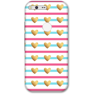 Google pixel Designer Hard-Plastic Phone Cover from Print Opera -Beautiful hearts