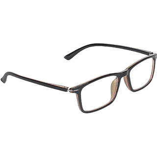 Zyaden Brown Rectangle Spectacle Frame FRA-440