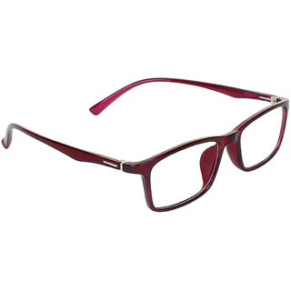 Zyaden Maroon Rectangle Spectacle Frame FRA-450