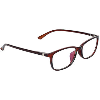Zyaden Maroon Rectangle Spectacle Frame FRA-452