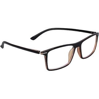 Zyaden Brown Rectangle Spectacle Frame FRA-426
