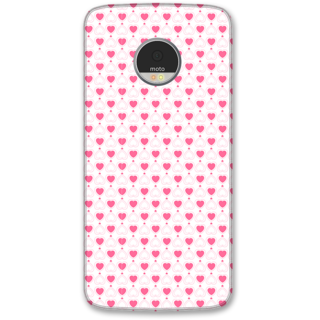 Moto Z Designer Hard-Plastic Phone Cover from Print Opera -Small pink hearts