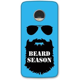Moto Z Designer Hard-Plastic Phone Cover from Print Opera -Beard season