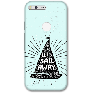 Google pixel Designer Hard-Plastic Phone Cover from Print Opera -Let's sail away