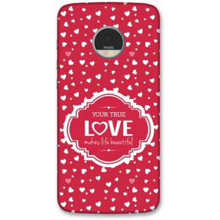 Moto Z Play Designer Hard-Plastic Phone Cover from Print Opera -True love
