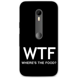 Moto G Turbo Designer Hard-Plastic Phone Cover from Print Opera -Where's the food