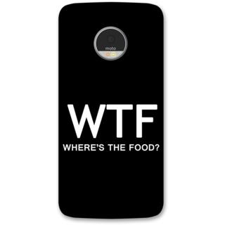 Moto Z Designer Hard-Plastic Phone Cover from Print Opera -Where's the food