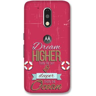 Moto G4 Plus Designer Hard-Plastic Phone Cover from Print Opera -Quote