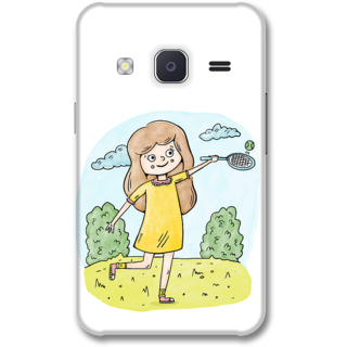 Samsung J2 2015 Designer Hard-Plastic Phone Cover from Print Opera -Sweet doll