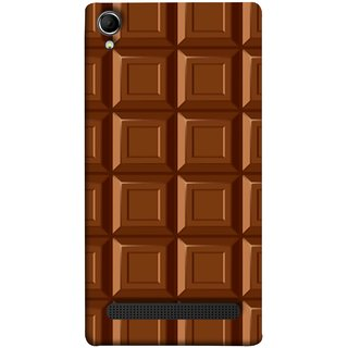 FUSON Designer Back Case Cover For Intex Aqua Power Plus :: Intex Aqua Power + (Candies Candy Chocolate Marshmallo Colourful Child)