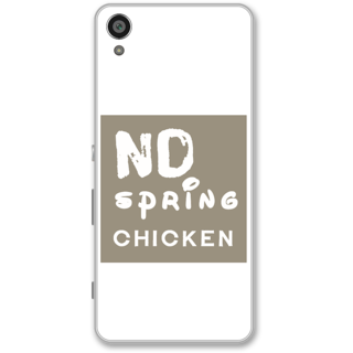 Sony Xperia XA Designer Hard-Plastic Phone Cover from Print Opera -No spring chicken