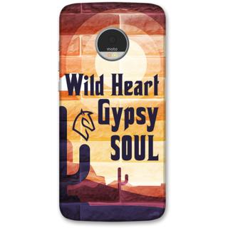 Moto Z Designer Hard-Plastic Phone Cover from Print Opera -Wild heart gypsy soul