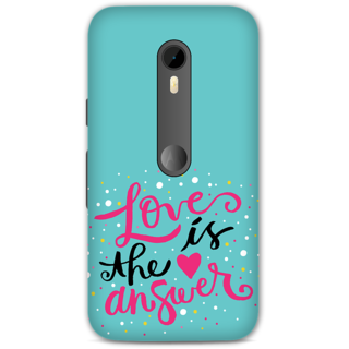 Moto G Turbo Designer Hard-Plastic Phone Cover from Print Opera -Love is the answer