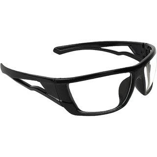 Zyaden Clear Wrap Around Sunglasses ( NV-46 )