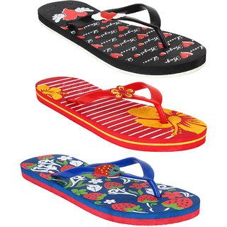 227c1a976 Buy Super Women Combo Pack of 3 Flip-Flops House Slippers Online ...