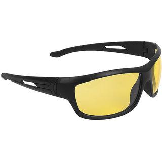 Zyaden Yellow Wrap Around Sunglasses ( NV-57 )