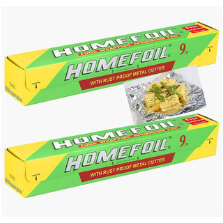 Homefoil Food Wrapping Aluminium Foil 9 Mtr (pack Of 2)