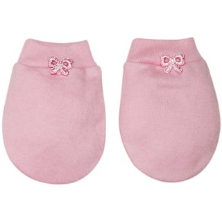 Tumble Plain Baby Mitten -Pink